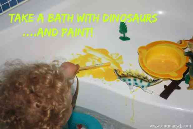 Take a Bath with Dinosaurs and Paint