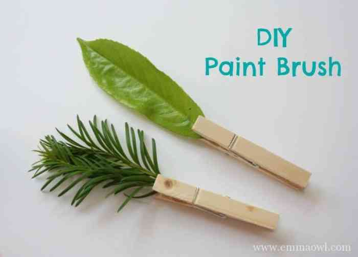 DIY Nature Paint Brushes