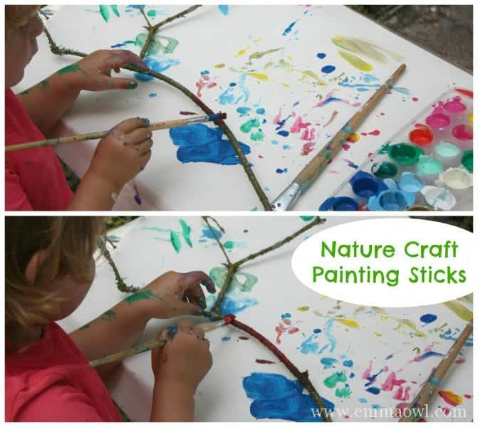 Nature Craft for Children - Painting Sticks