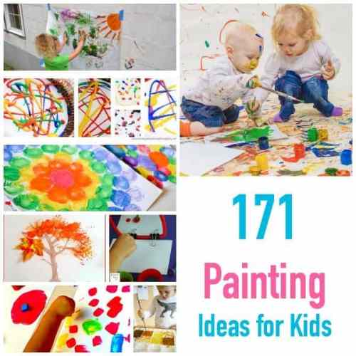 171 Painting Ideas for Kids Art and Craft Projects