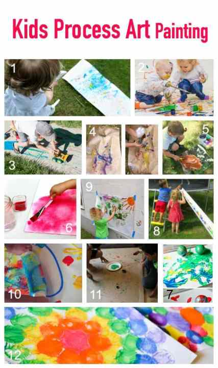 Great Ideas for Kid Process Art Painting Activities and Projects