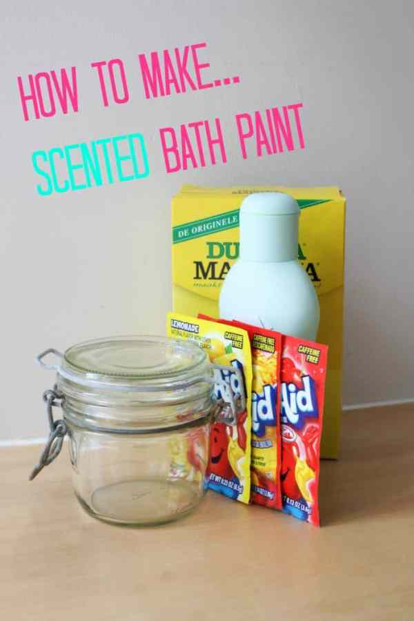 How to Make Scented Bath Paint!