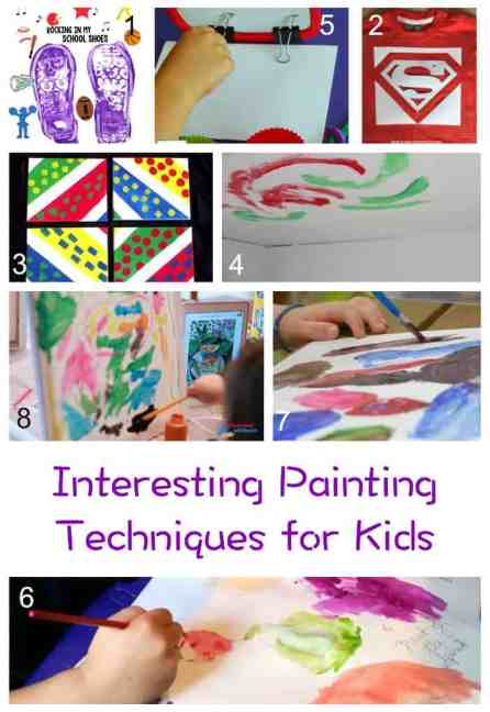 Interesting Painting Techniques for children - part of our 171 painting ideas and inspiration!