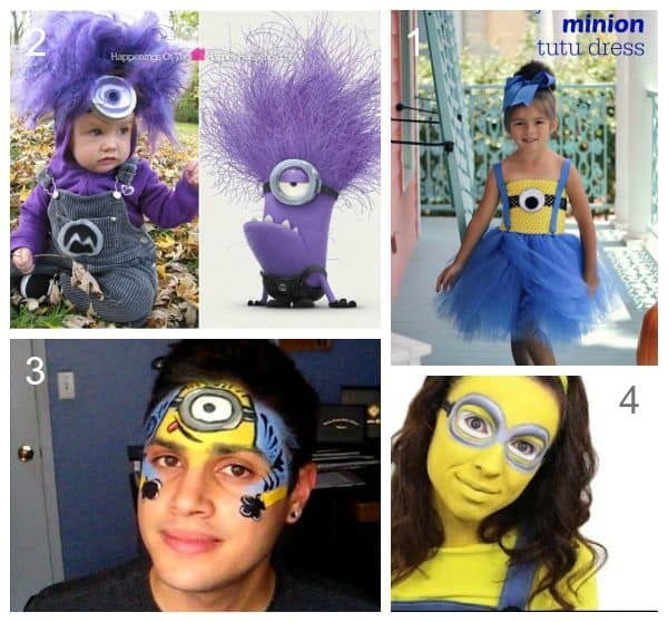Minion Costumes - including face painting video tutorials and girls tutu minion dress  sc 1 st  Emma Owl & Minion Halloween Costumes - Pumpkin Treat Bags and Decoration Ideas ...