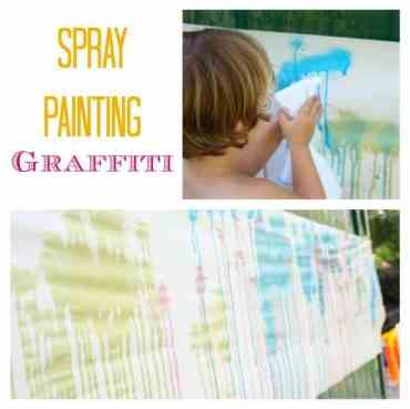 Spray Painting Graffiti. Fantastic summer Activity - What Fun!
