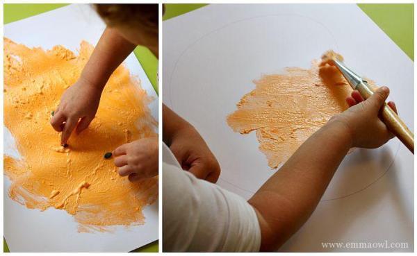 Puffy Paint Pumpkins