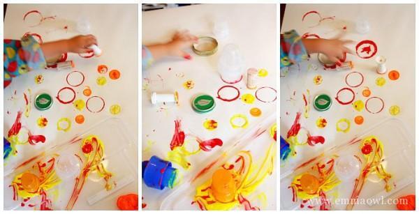Toddler Art Activity - Exploring Circles