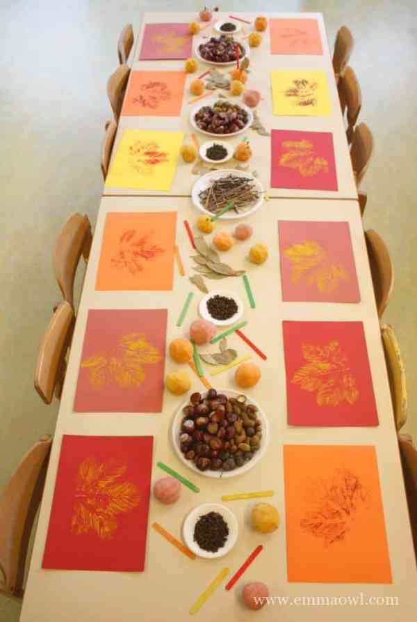Fall Sensory Table