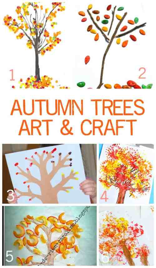 Fun & Exciting Autumn Tree Art and Craft Ideas for Children.