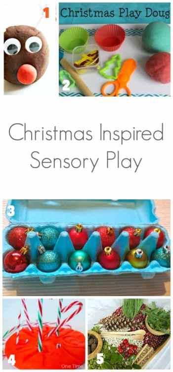 Christmas Inspired Sensory Play for Kids
