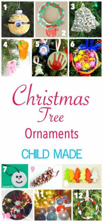 More than 26 Child Made Christmas Ornaments to hang on the tree this Christmas