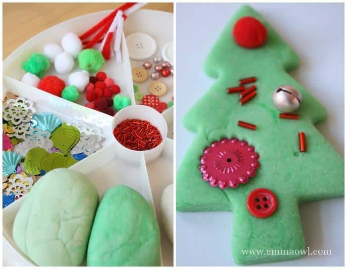 Invitation to Play with Christmas Dough