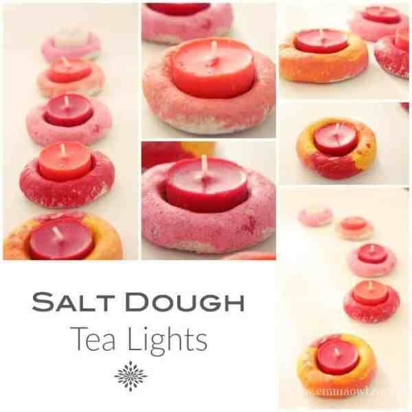 Salt Dough Tea Light Holders. These make the perfect Christmas Gift and Decorations