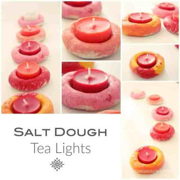 Salt Dough Tea Lights Kids Craft Made Simple Emma Owl