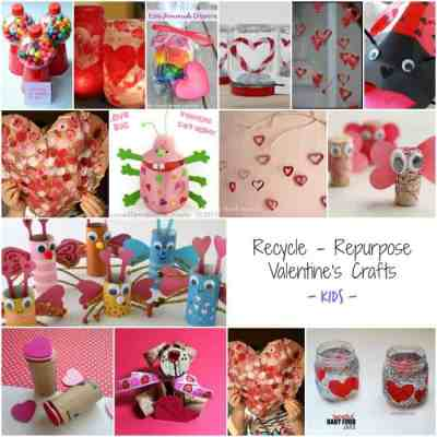 Recycled Kids Crafts - Valentines Day