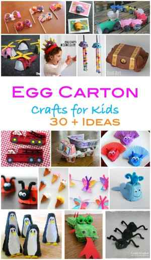 Here are more than 30 fantastic egg carton craft ideas for kids! Egg boxes are incredibly versatile - and cheap, they make the best craft material!
