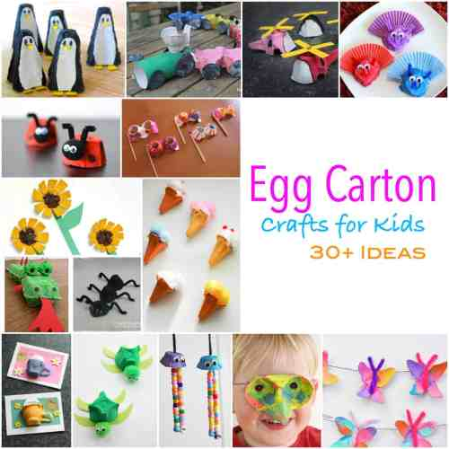 More than 30 egg carton craft ideas for kids