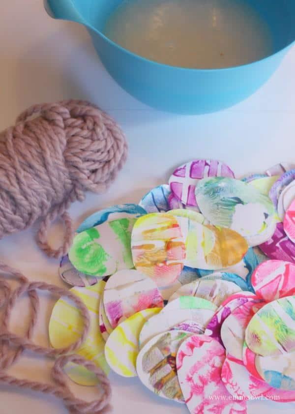 Potato Print Easter Baskets