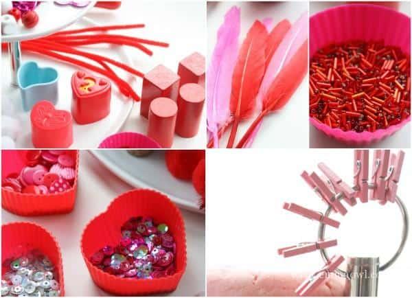 valentines day sensory play
