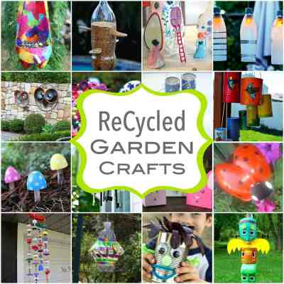 ReCycled Crafts for Spring Time Gardens
