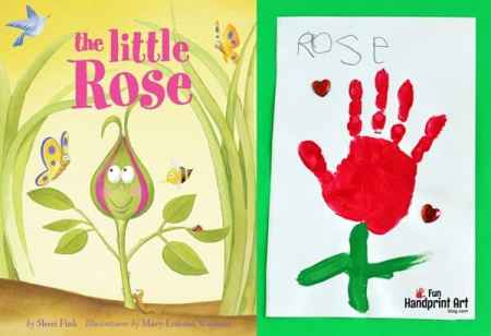 The-Little-Rose-Handprint-Craft