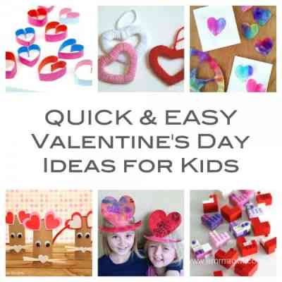 Easy and Quick Valentines Day Ideas for Kids