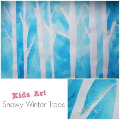 winter-trees-tape-resist-paiting