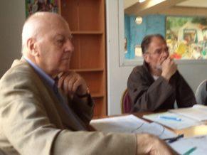 A gauche Jean Louis POUYER, à droite Jean ROUSSEAU lors de notre Conseil d'Administration du 11 septembre 2014 à MONTREUIL