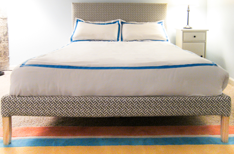 How to Upholster Bed Frame Ikea Fjellse - Tutorial