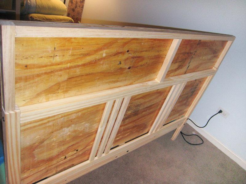 Built up headboard DIY