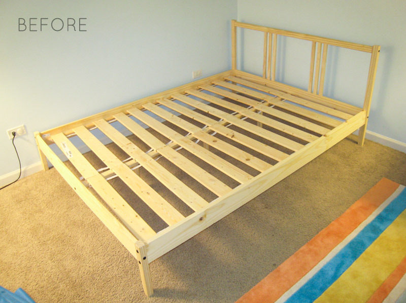 How to Reupholster Bed Frame Ikea Fjellse-Tutorial-BEFORE