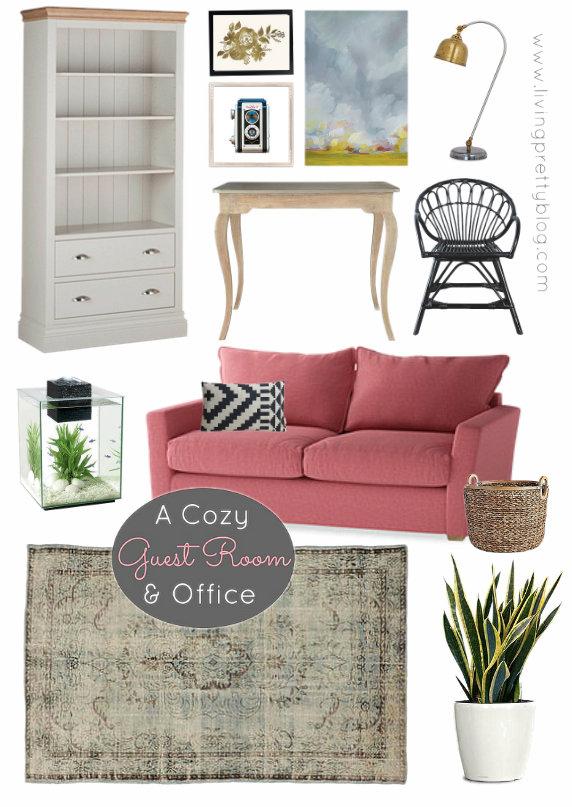 Mood Board - Cozy Guest Room Office Design
