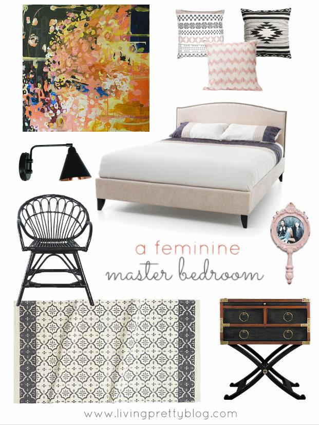 Mood Board - Feminine Master Bedroom Design
