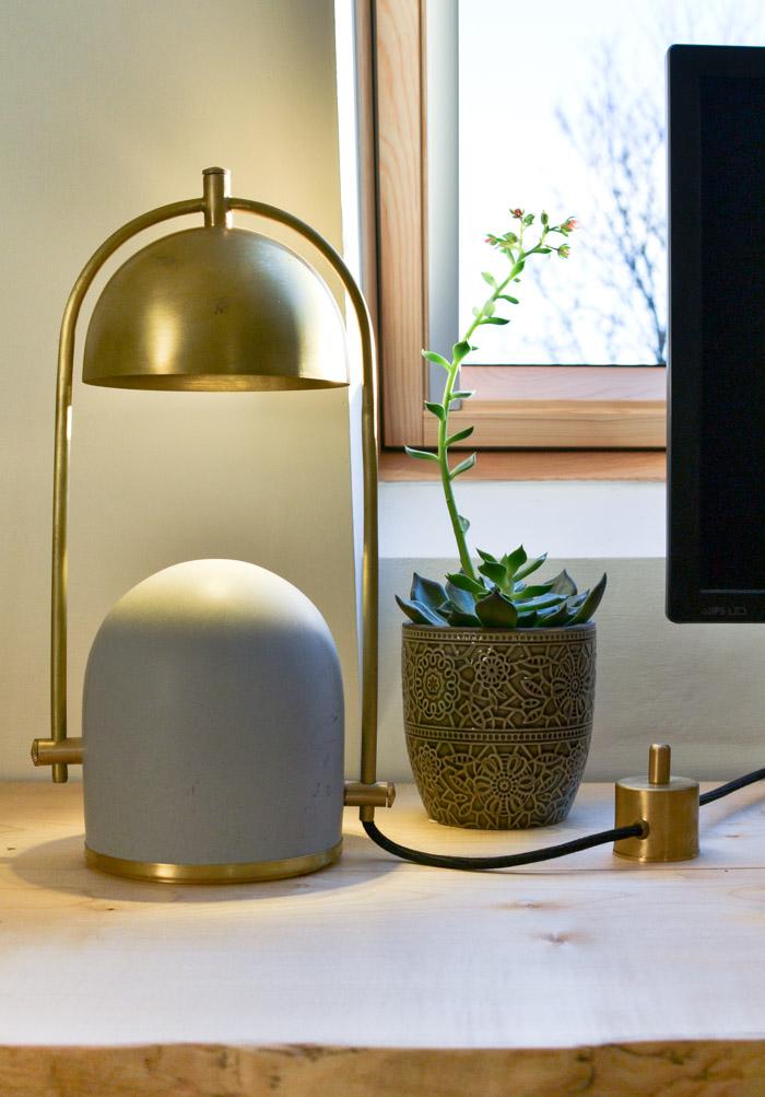 Frontal Factory Concrete Desk Lamp-6