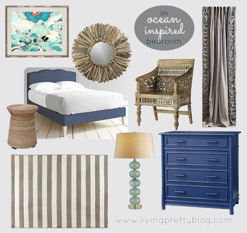 Mood Board - Ocean Inspired Bedroom Design