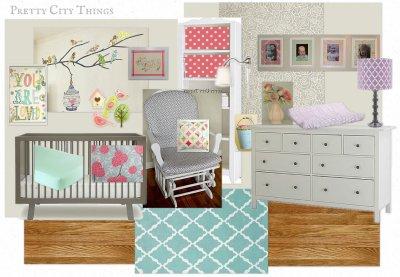 Mood Board - Baby Girl Nursery Design