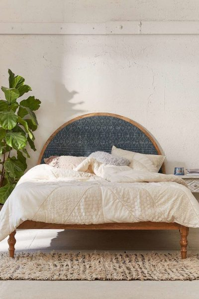 Urban Outfitters Arc Upholstered Shibori Headboard