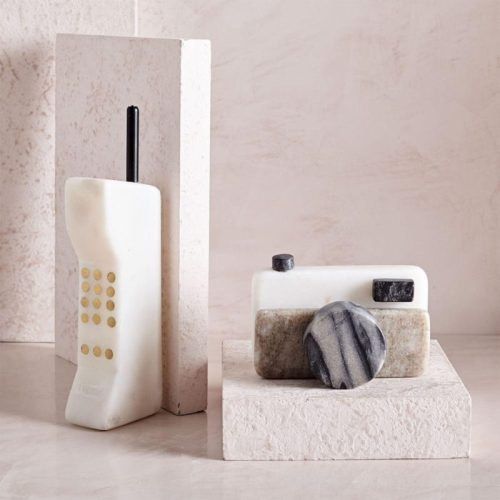 West Elm Retro Marble Objects Car Phone Camera