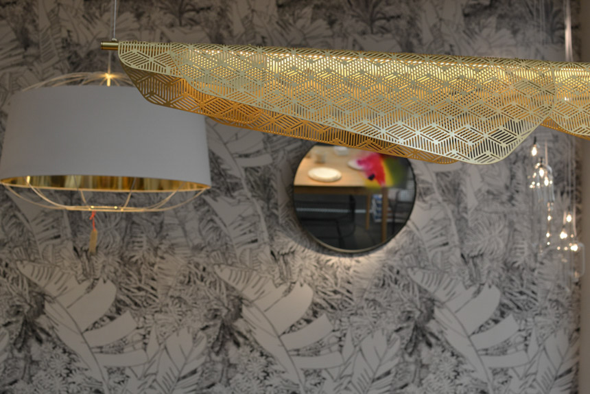 Brass Pendant Lighting at Petite Friture featuring 80s inspired geometry