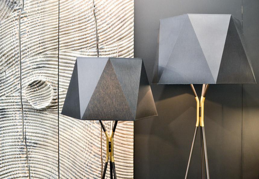2017 Interior Design Trends Home Decor Trend Report - Geometry, Refined Industrial & Mixed Metals via International MCM Solitaire Floor Lamp