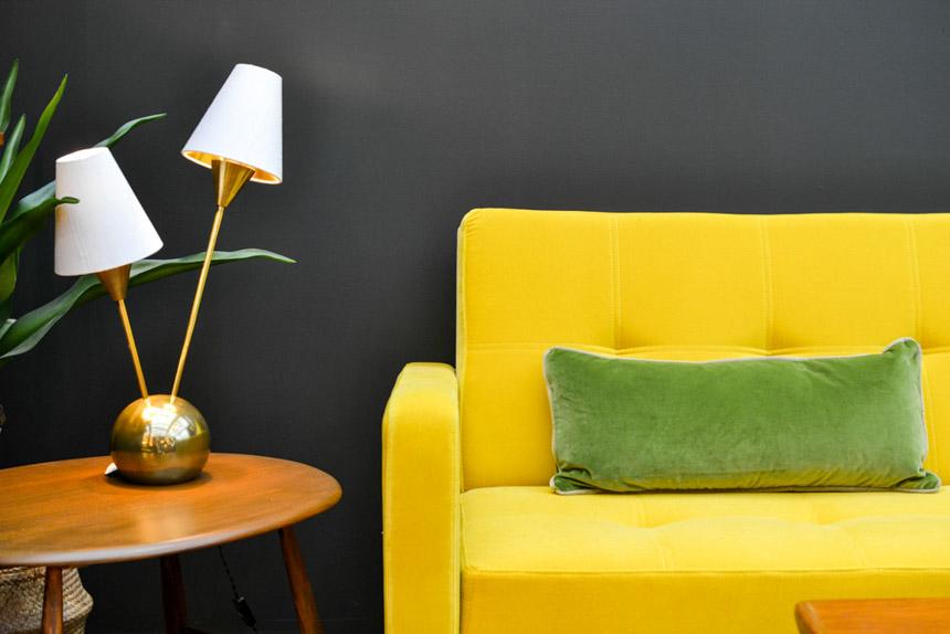 2017 Interior Design Trends Home Decor Trend Report - Midcentury + Brass via Heathfield & Co
