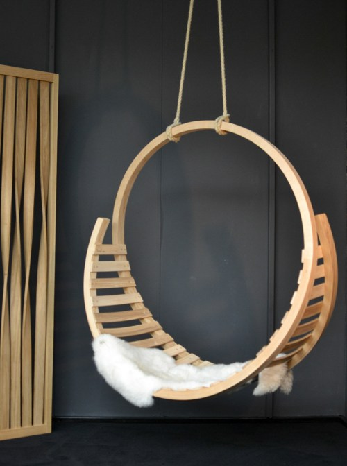2017 Interior Design Trends Home Decor Trend Report - Raw Wood Swing Scandi Inspired via Tom Raffield at Decorex