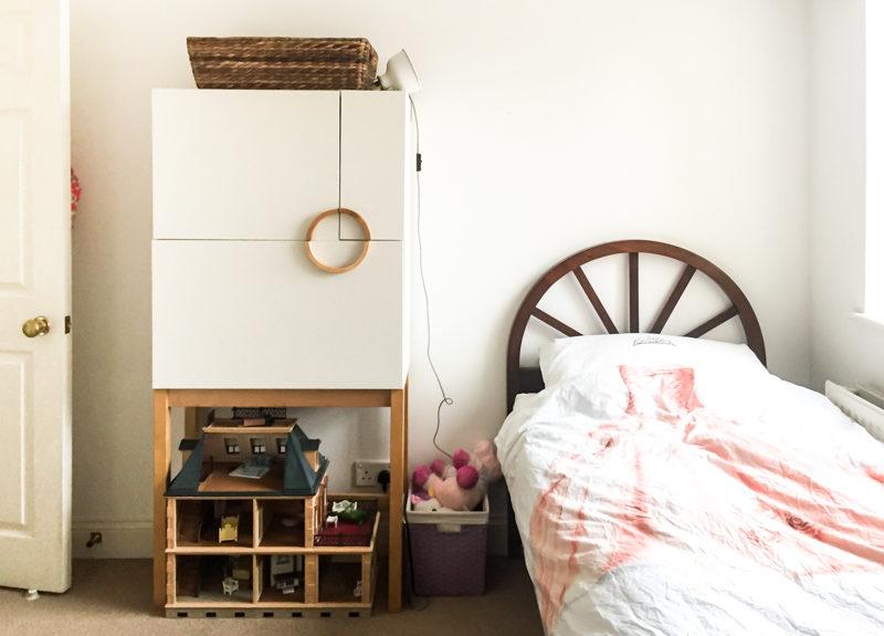 Global Boho Girls Bedroom - One Room Challenge Makeover - Before Photo-2