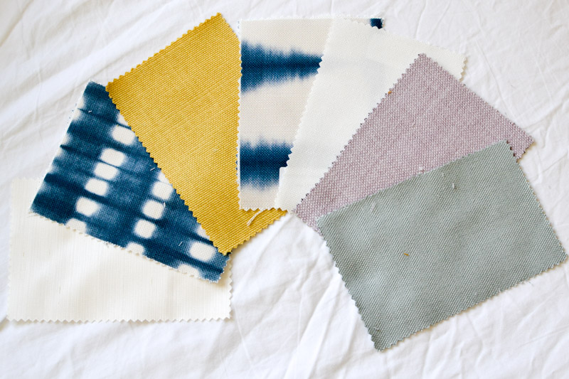 Fabric samples from Blinds 2Go