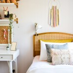 Global Boho Kids Room Makeover Diy Wall Hanging Wicker Headboard Emmerson And Fifteenth