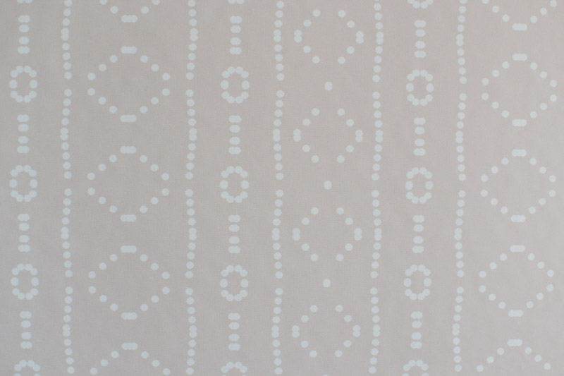 Close up of Holli Zollinger Bebe Mudcloth White - Spoonflower Woven Removable Wallpaper