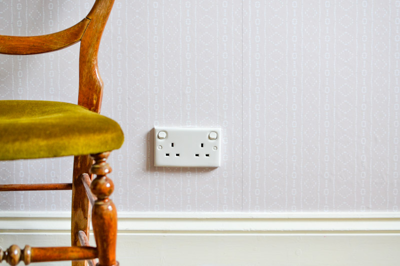 How to Hang Removable Wallpaper 2 - Prep Walls & Remove Outlet Covers