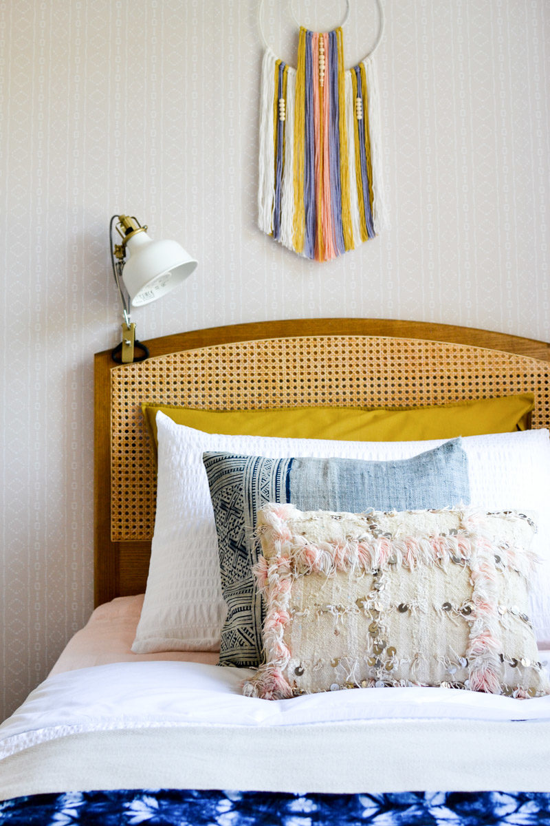 How to Make Wall Hanging with Wooden Beads DIY Tutorial - hanging above bed