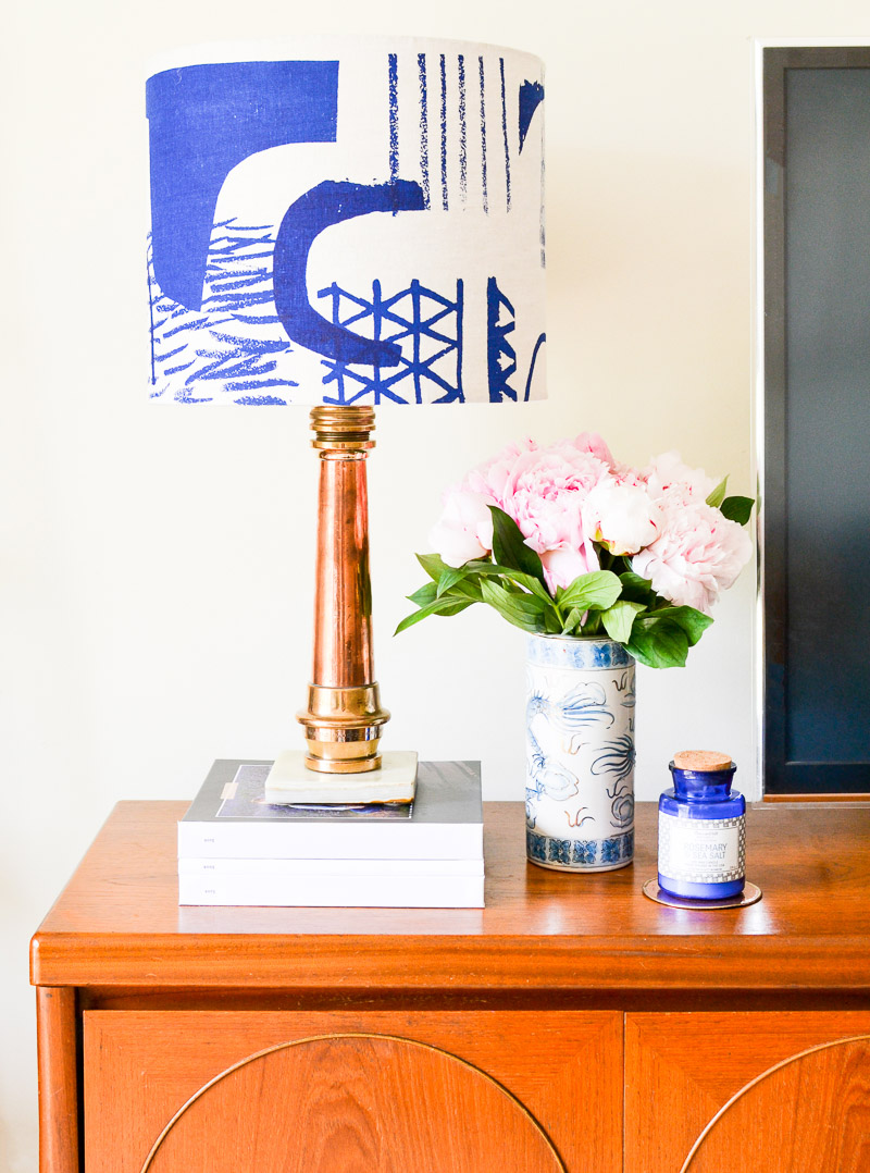 Copper lamp base made from vintage fire hose interior design