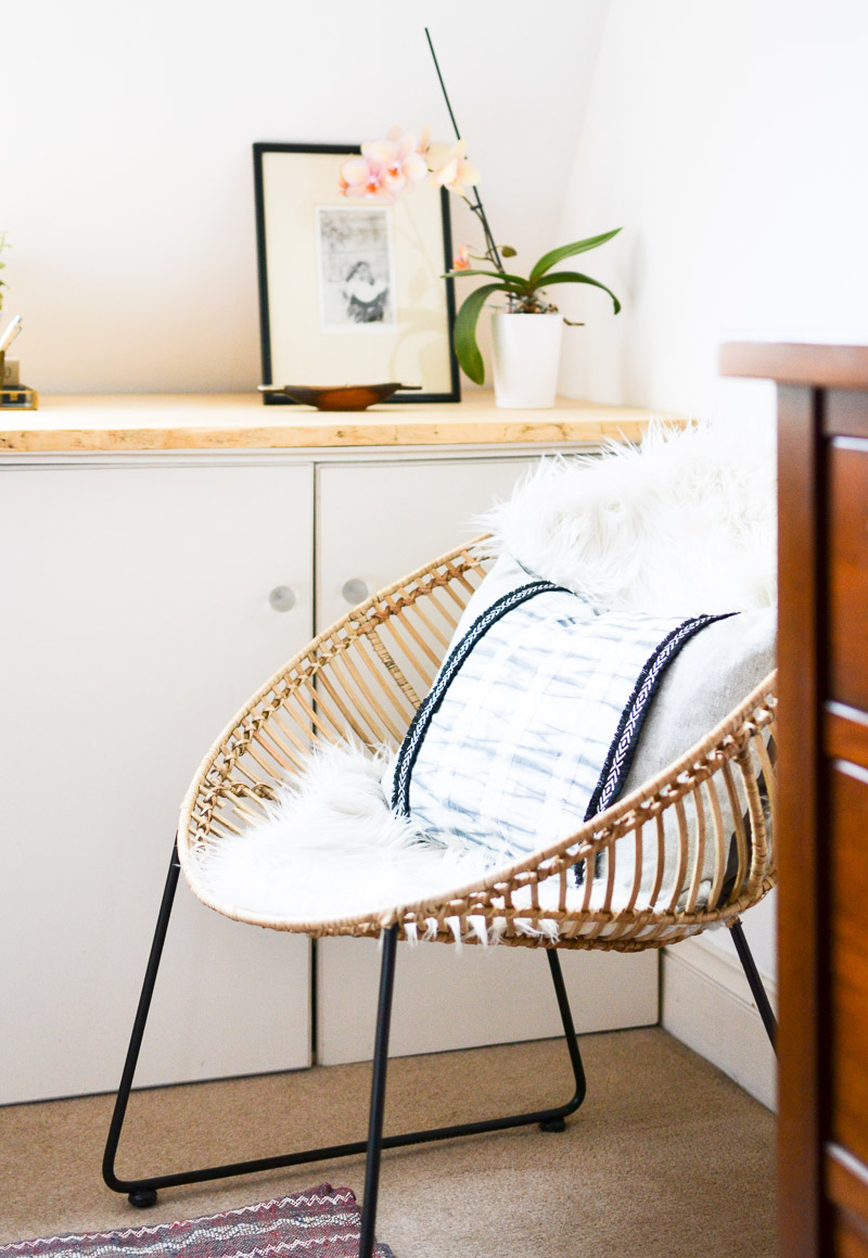 Cane Boho Chair: Summer 17 Eclectic Home Tour